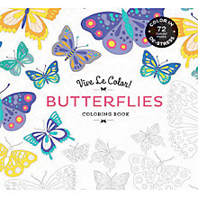 Buy Vive Le Color! Butterflies Colouring Book Online at johnlewis.com