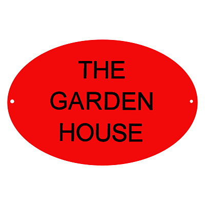 The House Nameplate Company Personalised Acrylic Round House Sign, Dia.11.5cm