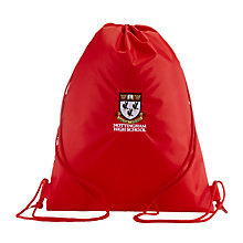 Buy Nottingham High School Drawstring Swim Bag, Red Online at johnlewis.com
