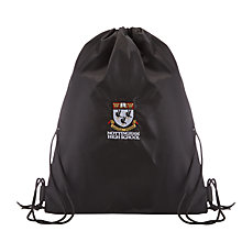 Buy Nottingham High School Swim Drawstring Bag, Black Online at johnlewis.com