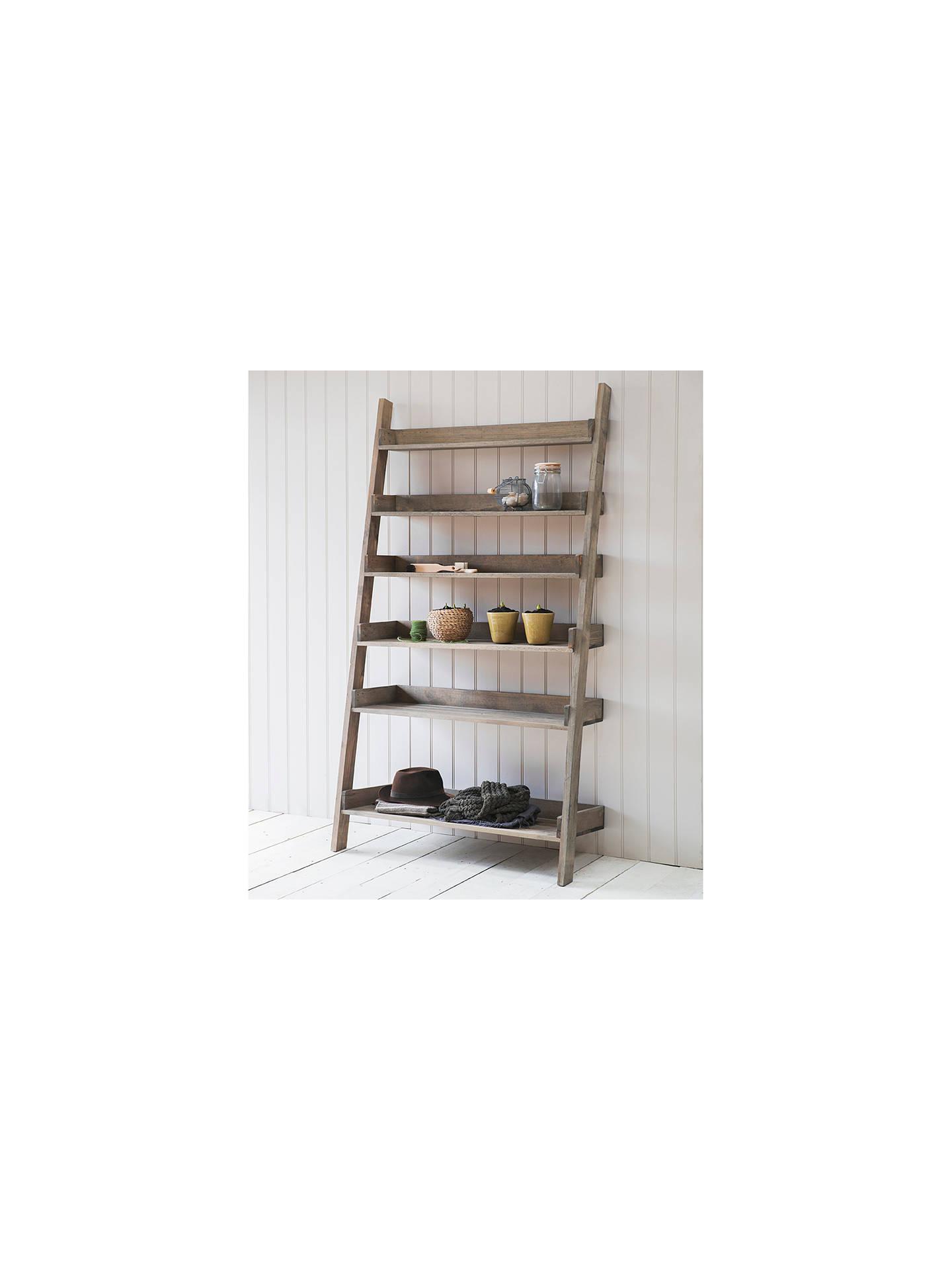 buy online 78638 4f6fb Garden Trading Aldsworth Wide Spruce Wood Shelf Ladder, Natural