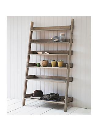Garden Trading Aldsworth Wide Spruce Wood Shelf Ladder, Natural