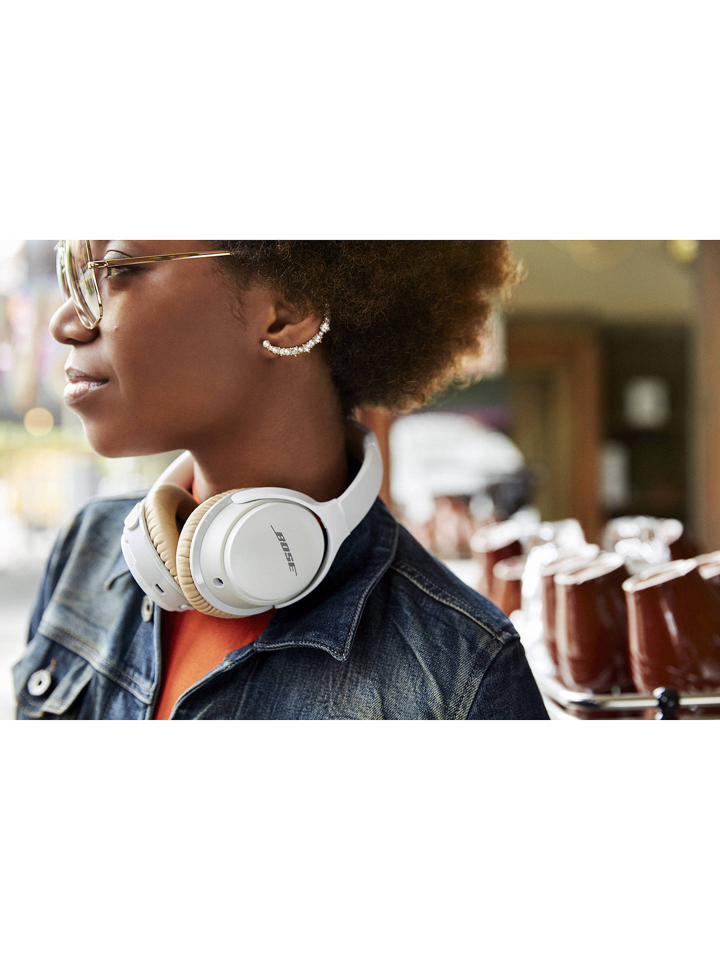 BuyBose® SoundLink™ AE2 Wireless Bluetooth Over-Ear Headphones with Built-In Microphone, White Online at johnlewis.com