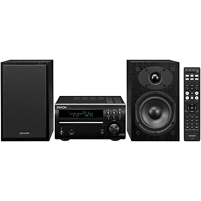 Denon DM40 DAB/FM/AM/CD Micro System with iOS, Black