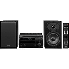 Buy Denon DM40 DAB/FM/AM/CD Micro System with iOS, Black Online at johnlewis.com