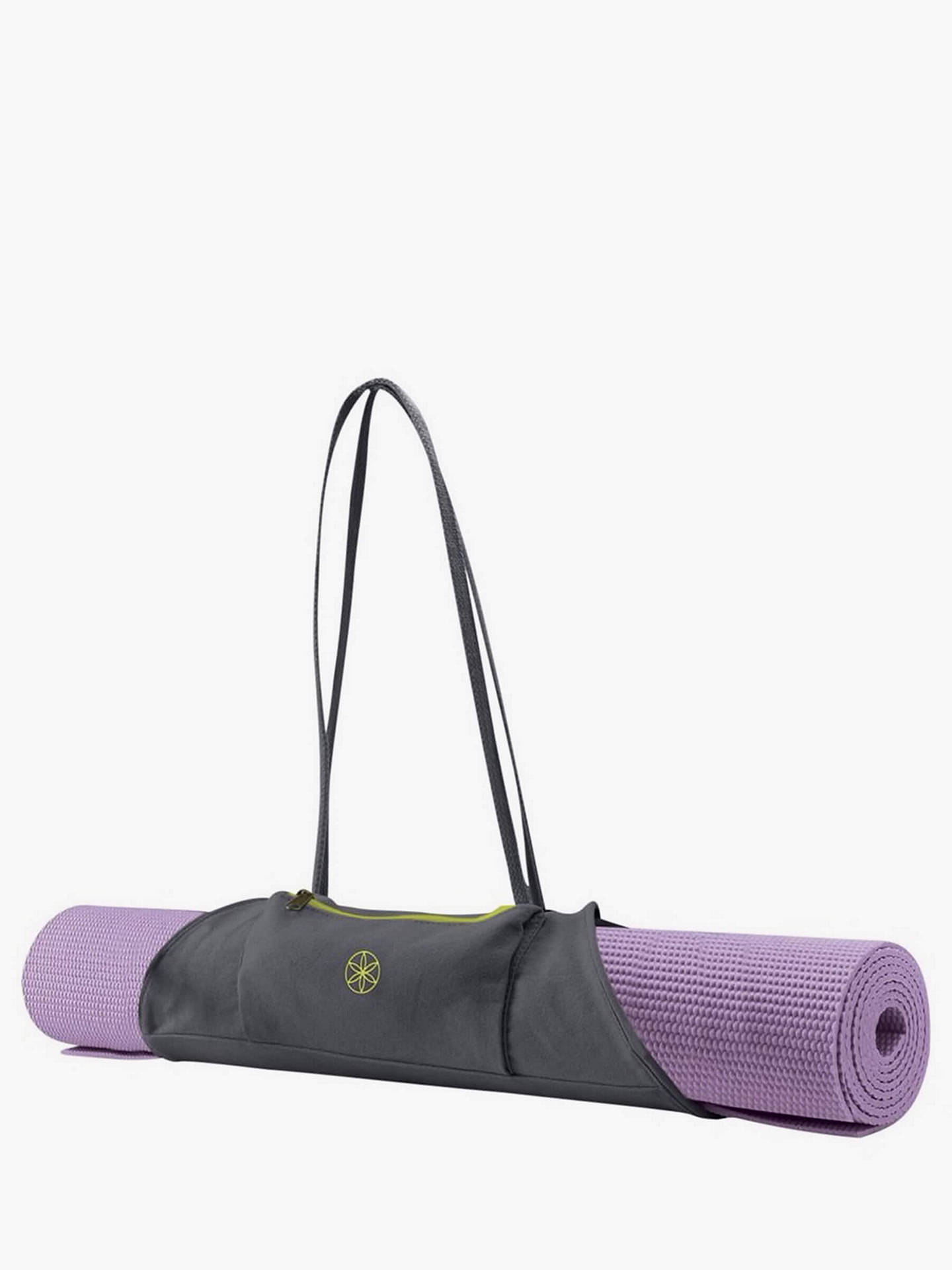 Gaiam On The Go Yoga Mat Carrier Grey Citron At John