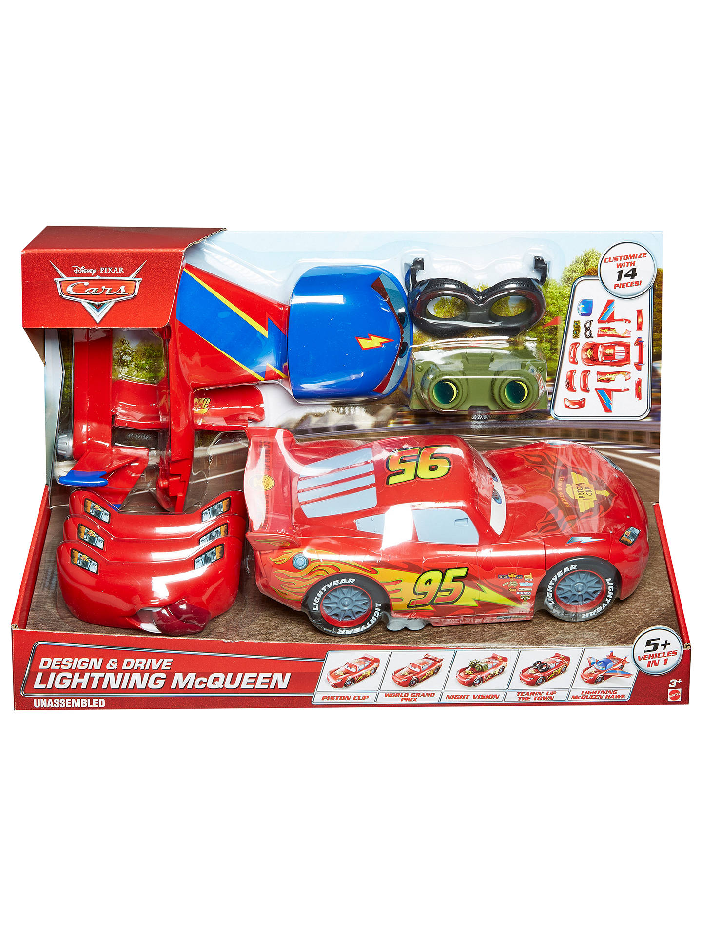 Magnificent Disney Cars Design Drive Lightning Mcqueen Set At John Home Interior And Landscaping Ologienasavecom