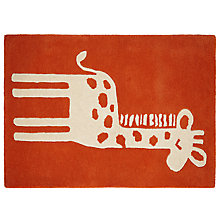 Buy John Lewis Children's Giraffe Rug, Orange Online at johnlewis.com