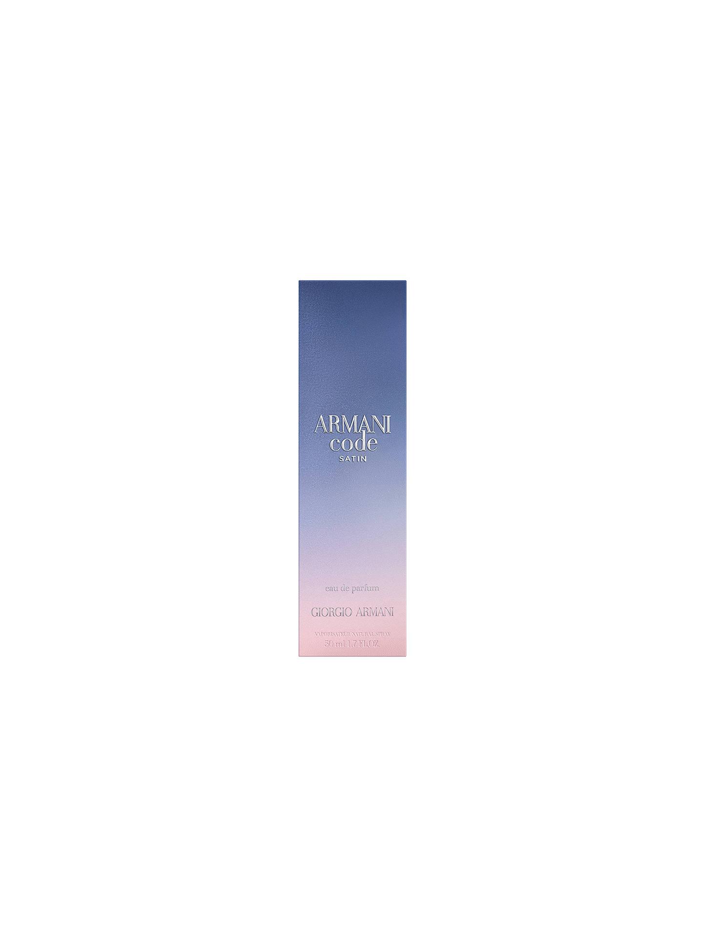 Giorgio Armani Code Femme Satin Eau De Parfum At John Lewis Partners