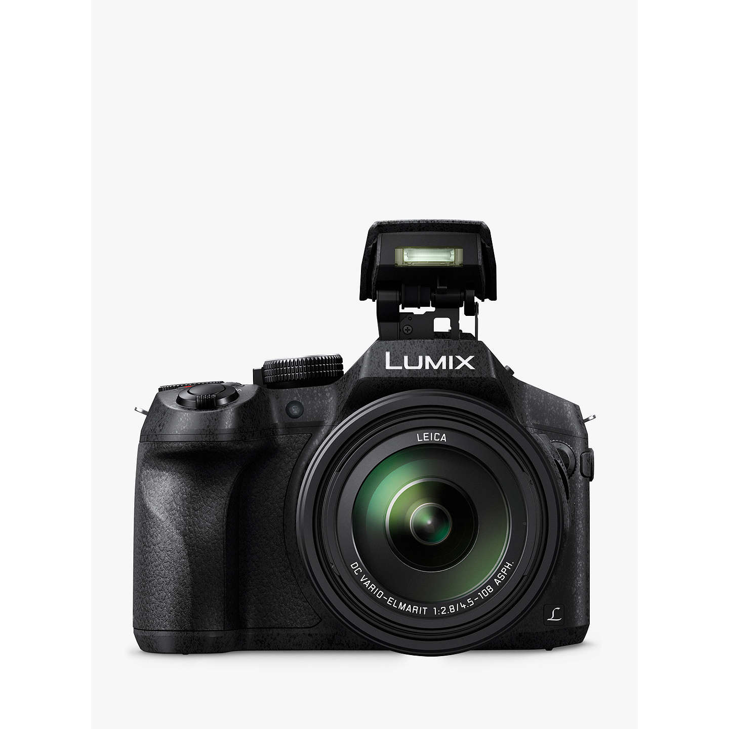 "BuyPanasonic DMC-FZ330EBK Bridge Camera with 25-600mm LEICA Lens, 4K Ultra HD, 12MP, 24x Optical Zoom, 4x Digital Zoom, Wi-Fi, OLED Live Viewfinder, 3"" Vari-angle Touch Screen, Splash & Dustproof, Black Online at johnlewis.com"