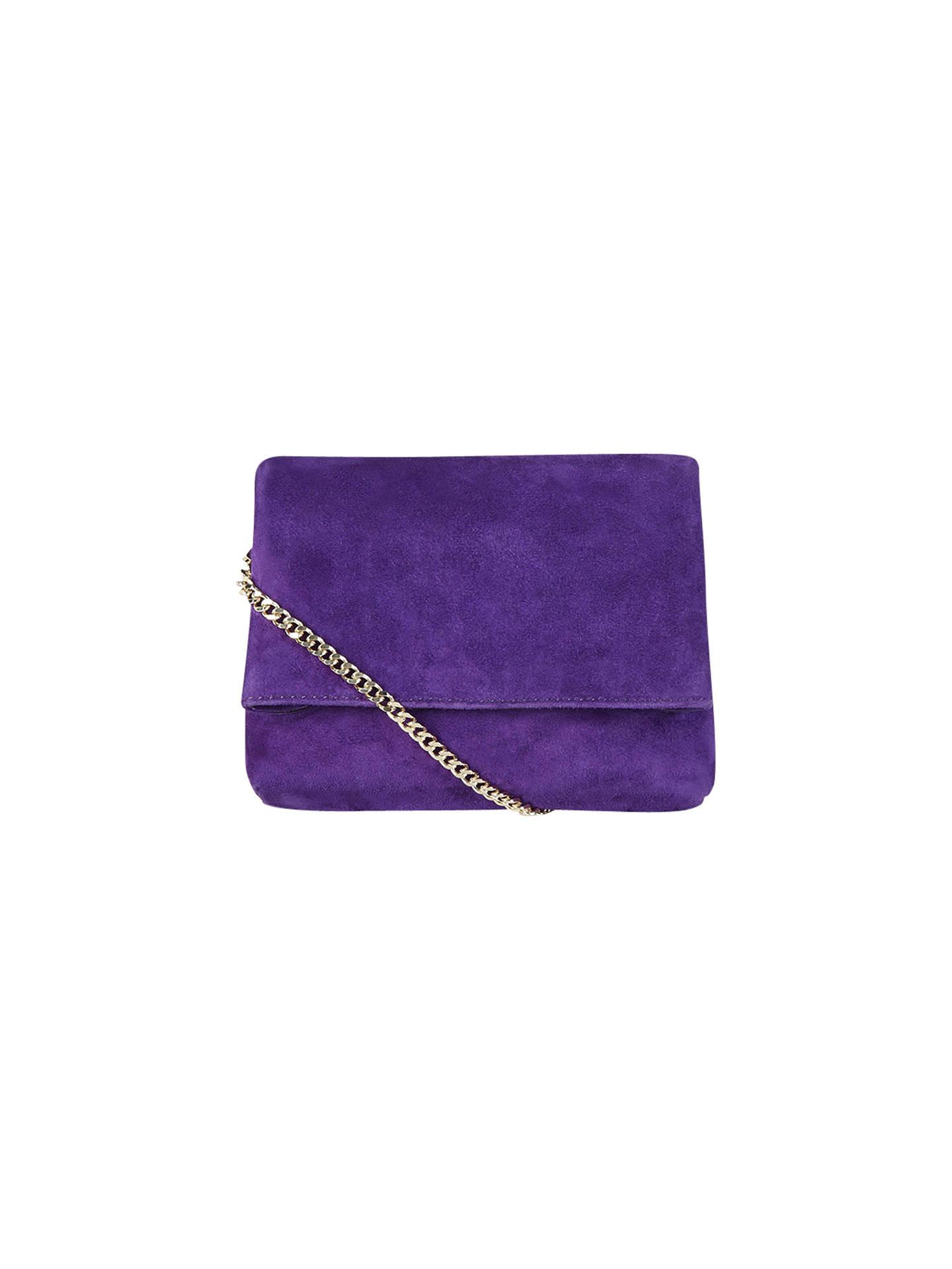 9fe1d5a32b1 Buy Karen Millen Aldwych Mini Clutch Bag, Purple Online at johnlewis.com ...