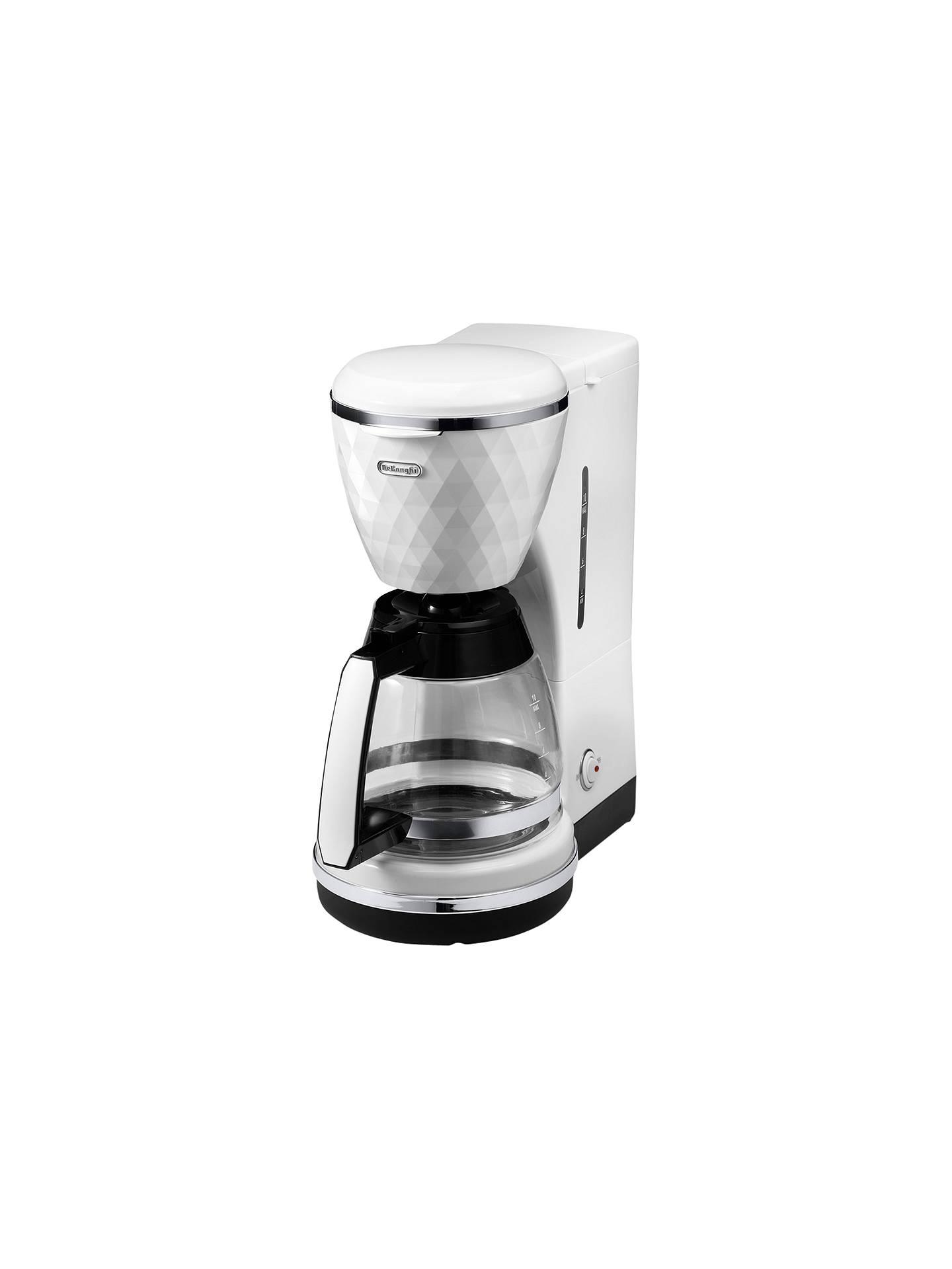 Delonghi Icmj210 Filter Coffee Maker White At John Lewis