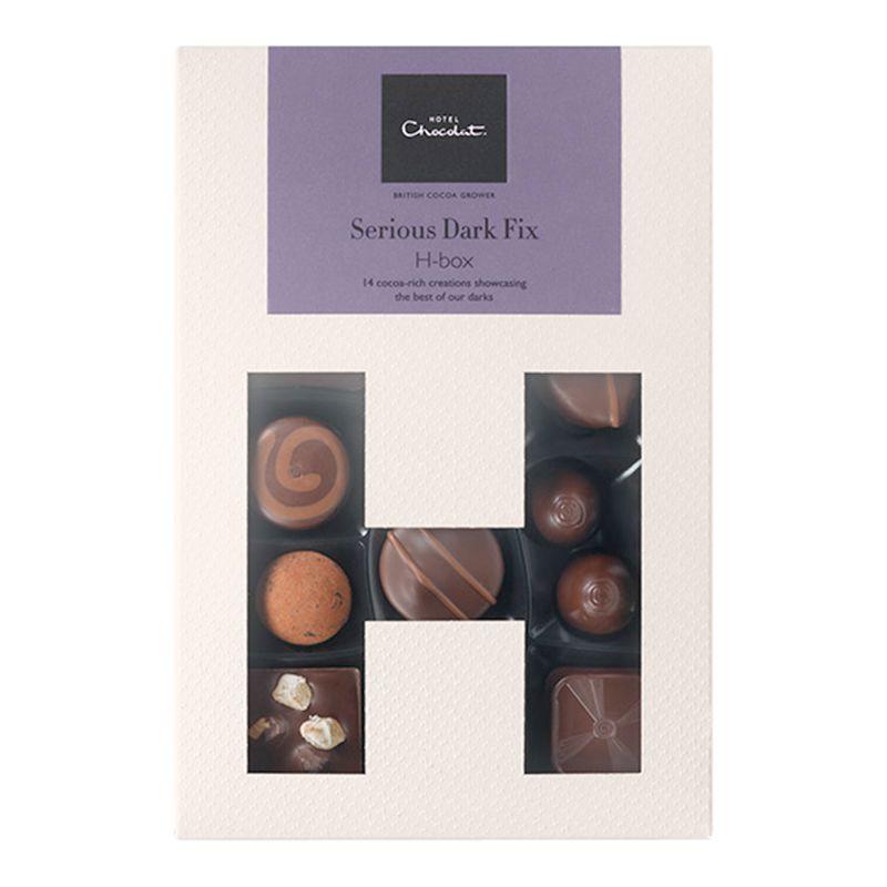 Hotel Chocolat Hotel Chocolat Serious Dark Fix H-Box Selection Box