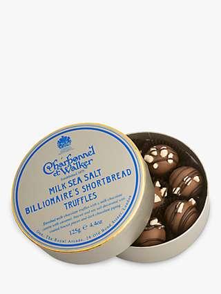 Charbonnel et Walker Billionaire Shortbread Truffles, Box of 8, 125g