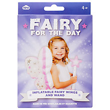 Buy Fairy For A Day Inflatable Wings And Wand Online at johnlewis.com