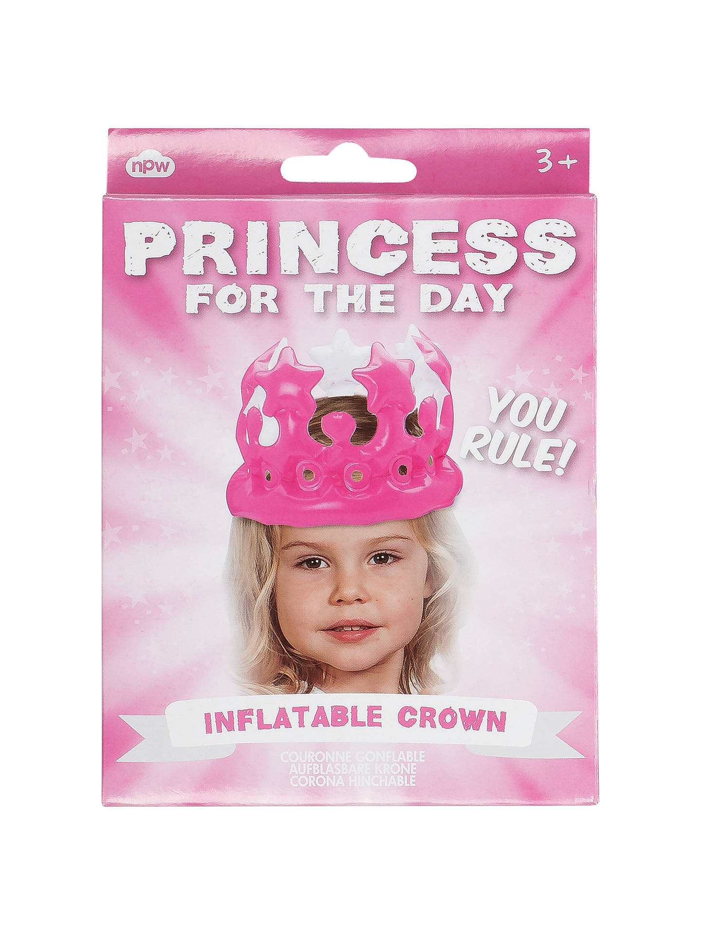 BuyPrincess For The Day Inflatable Crown Online At Johnlewis.com