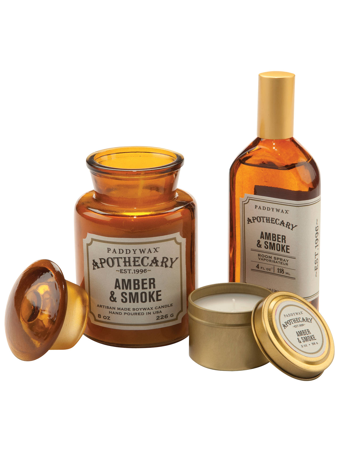 Paddywax Apothecary Amber and Smoke Scented Candle at John ...