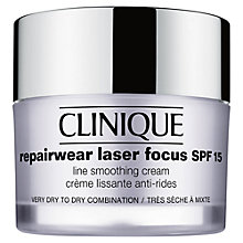 Buy Clinique Repairwear Laser Focus SPF15 Line Smoothing Cream, 50ml Online at johnlewis.com