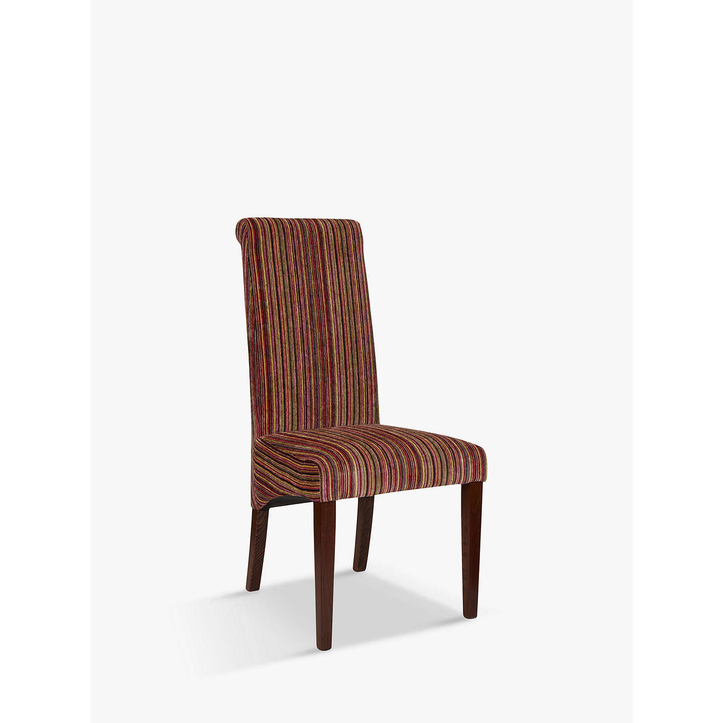John Lewis Maharani Upholstered Dining Chair Raspberry Stripe Online At Johnlewis