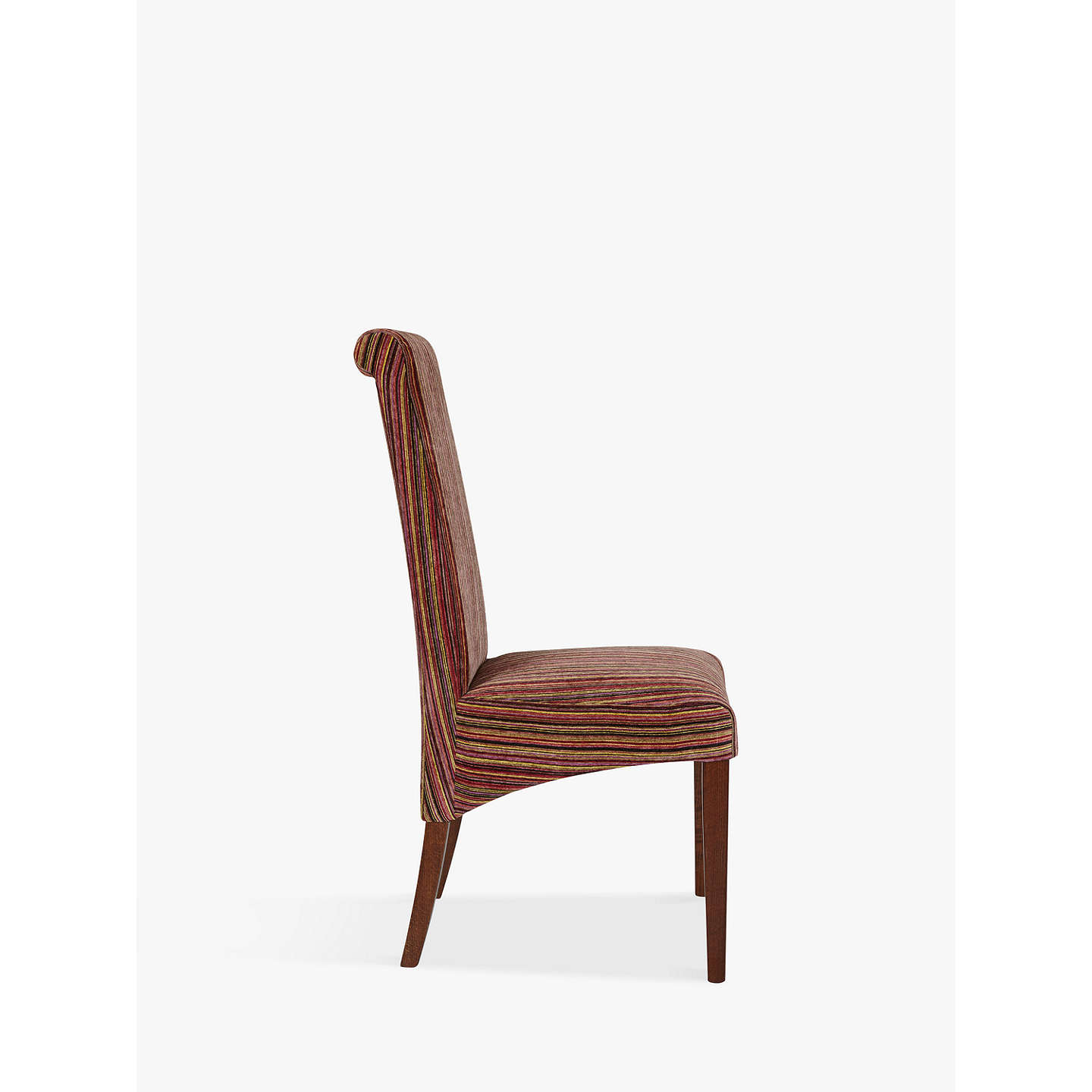 John lewis maharani upholstered dining chair raspberry for Striped upholstered dining chairs