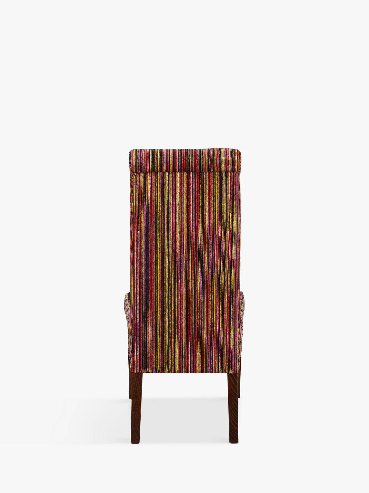 Buy John Lewis & Partners Maharani Upholstered Dining Chair, Raspberry Stripe Online at johnlewis.com