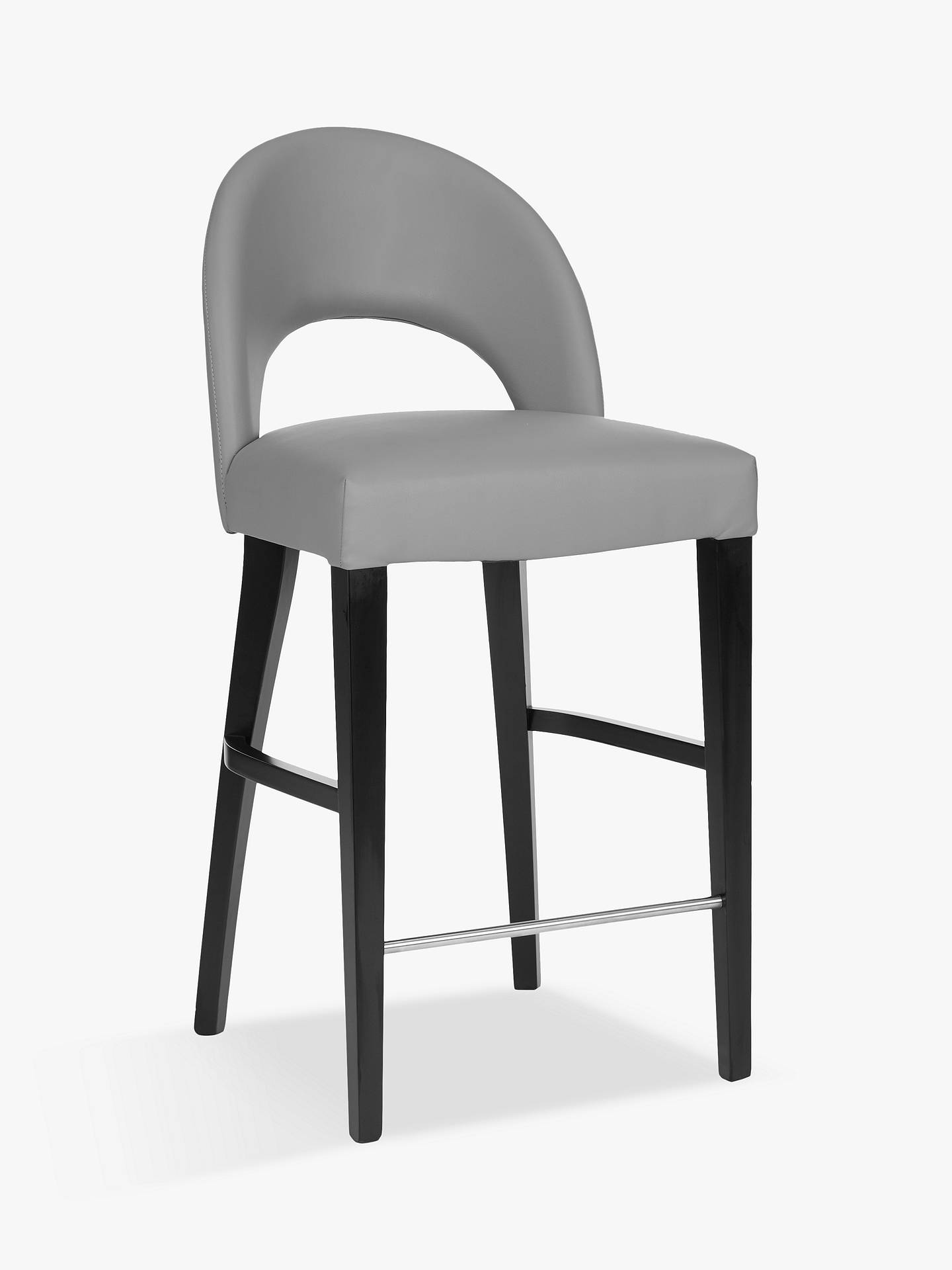 Stupendous Gray Leather Bar Stools Machost Co Dining Chair Design Ideas Machostcouk