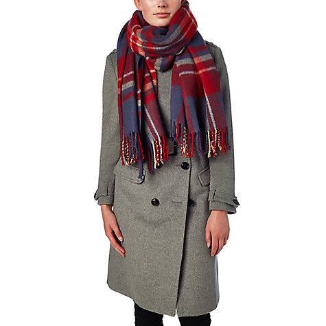 Buy Phase Eight Gigi Tartan Scarf, Navy/Red Online at johnlewis.com