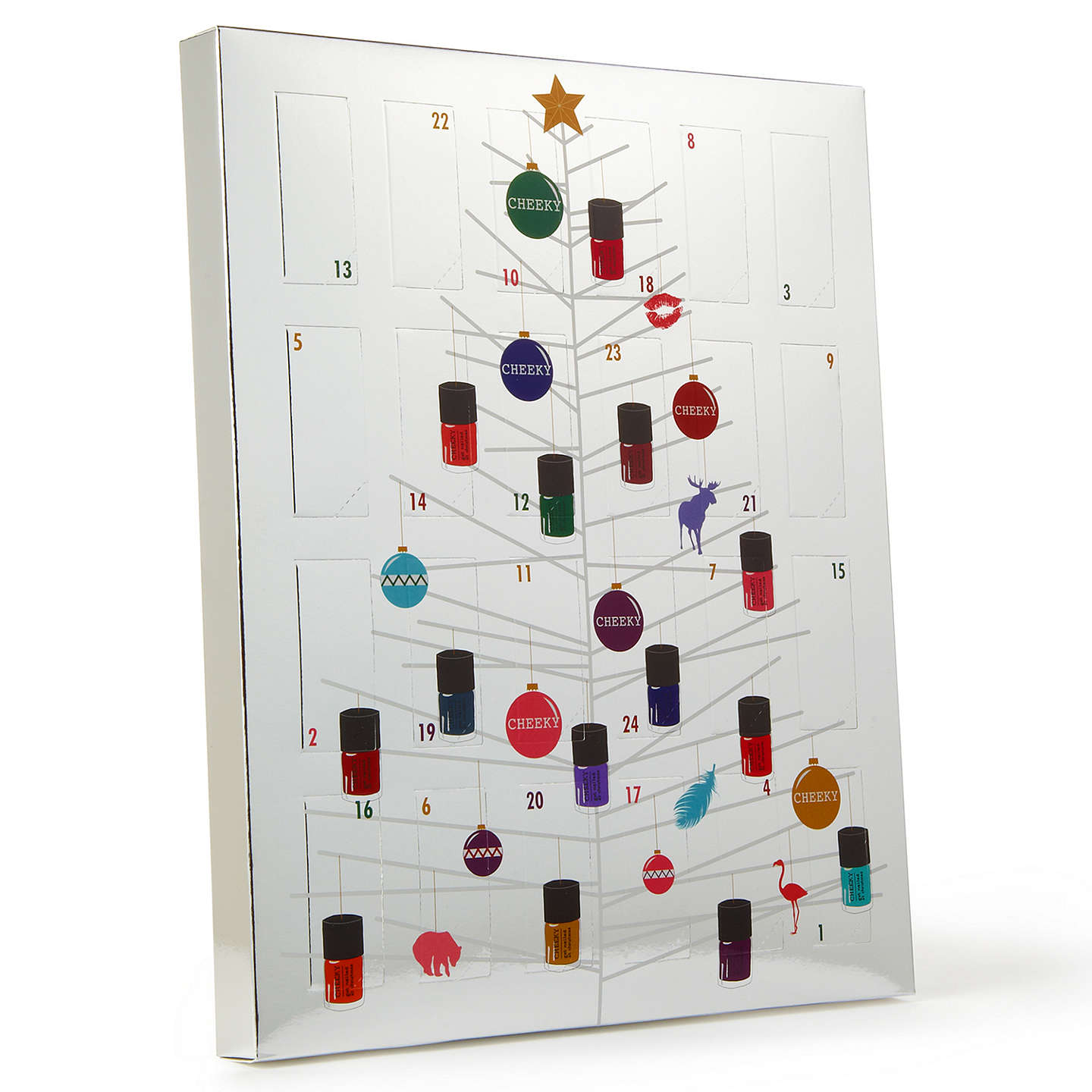 CHEEKY Nail Polish Advent Calendar, 24 x 5 ml at John Lewis