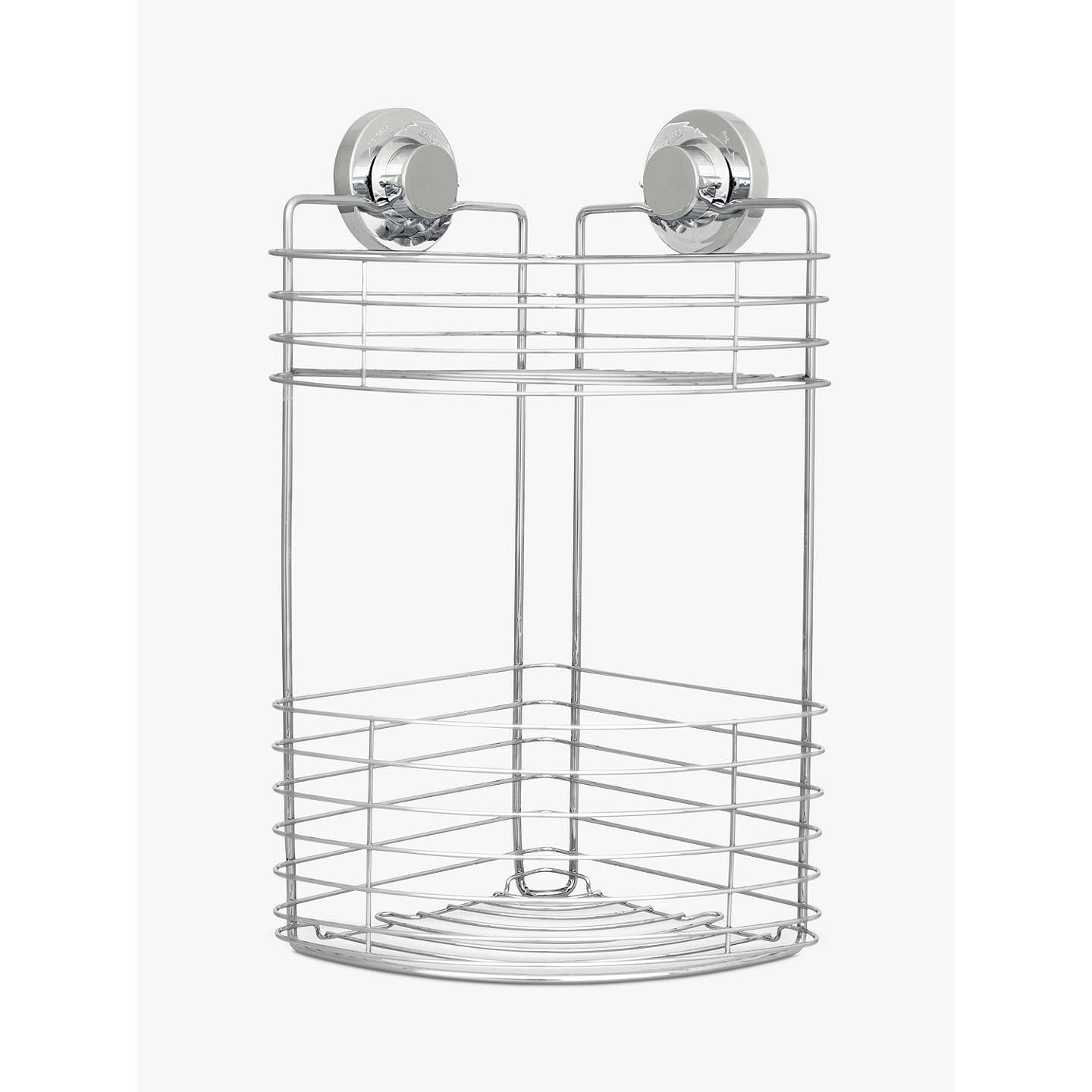 BuyBliss Lock N Roll 2 Tier Suction Shower Corner Basket Online At  Johnlewis.com