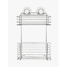 Buy Bliss Lock N Roll 2 Tier Suction Shower Basket Online at johnlewis.com