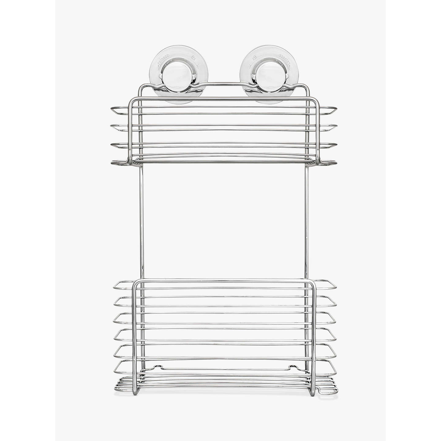 Bliss Lock N Roll 2 Tier Suction Shower Basket at John Lewis
