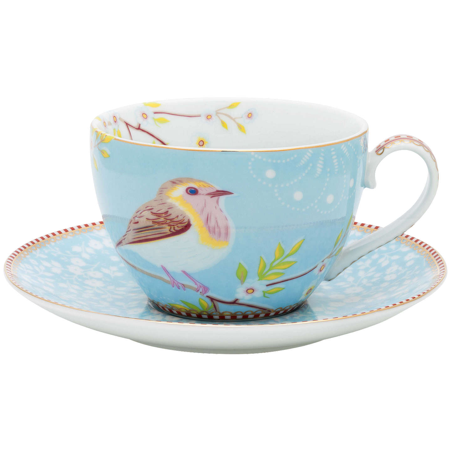 Pip Studio Early Bird Cuccino Cup And Saucer Blue Online At Johnlewis