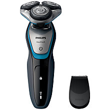 Buy Philips S5400/06 Aquatouch Electric Shaver, Blue / Grey Online at johnlewis.com
