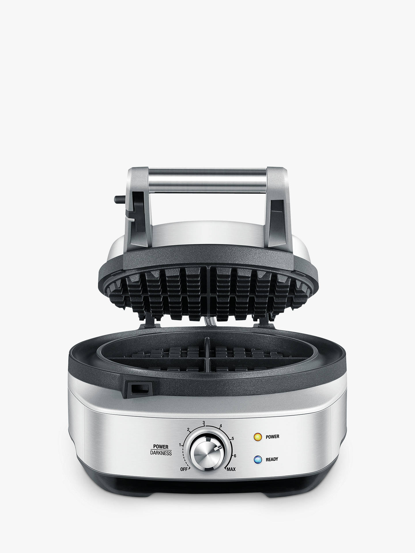 BuySage The No Mess Waffle Maker, Silver Online at johnlewis.com