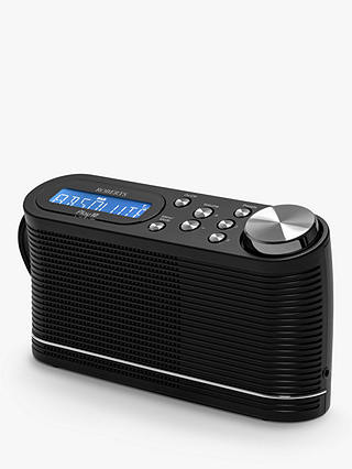 Buy Roberts Play 10 DAB/DAB+/FM Portable Digital Radio, Black Online at johnlewis.com