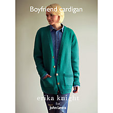 Buy Erika Knight for John Lewis Boyfriend Cardigan Knitting Pattern Online at johnlewis.com