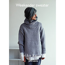 Buy Erika Knight for John Lewis Weekender Sweater Knitting Pattern Online at johnlewis.com
