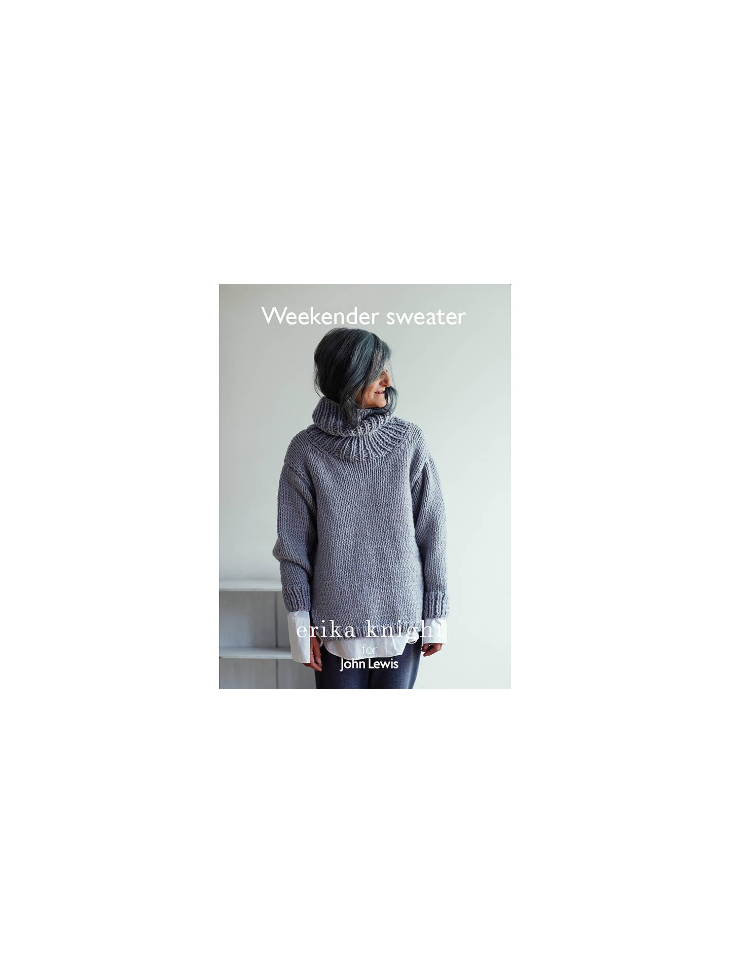 c029f8439d818c Buy Erika Knight for John Lewis Weekender Sweater Knitting Pattern Online  at johnlewis.com ...