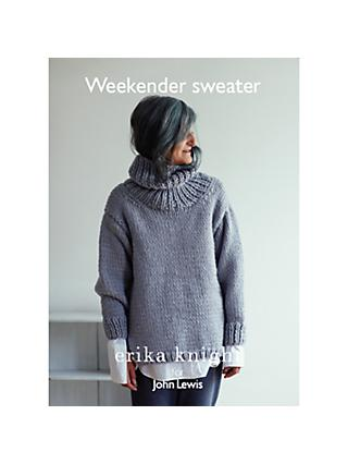 Erika Knight for John Lewis Weekender Sweater Knitting Pattern Range
