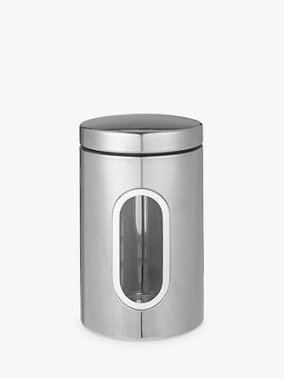 Buy John Lewis & Partners Stainless Steel Window Canister, Small Online at johnlewis.com