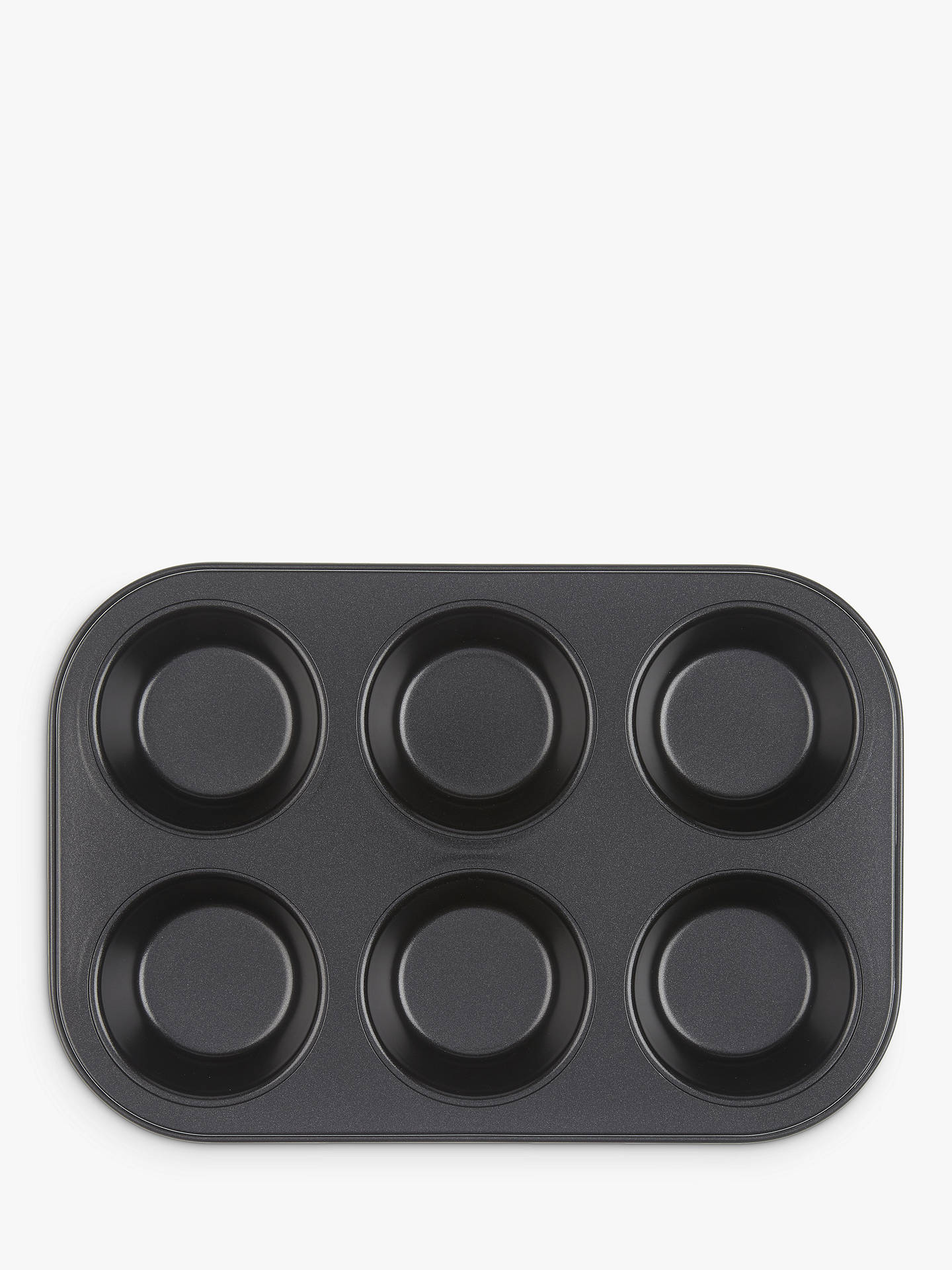 BuyJohn Lewis & Partners Professional Non-Stick Muffin Tray, 6 Cup Online at johnlewis.com