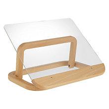 Buy John Lewis Cookbook Stand, Beech/Acrylic Online at johnlewis.com