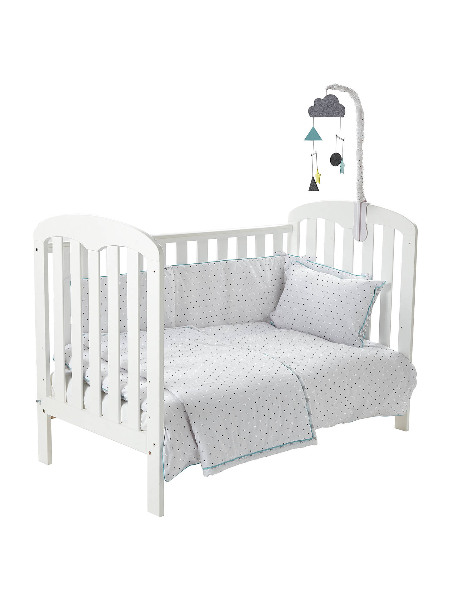 John Lewis Baby Chevron And Stars Cot Cotbed Cotton Duvet