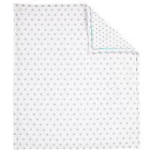 Buy John Lewis Baby Star Print Quilt, Grey Online at johnlewis.com