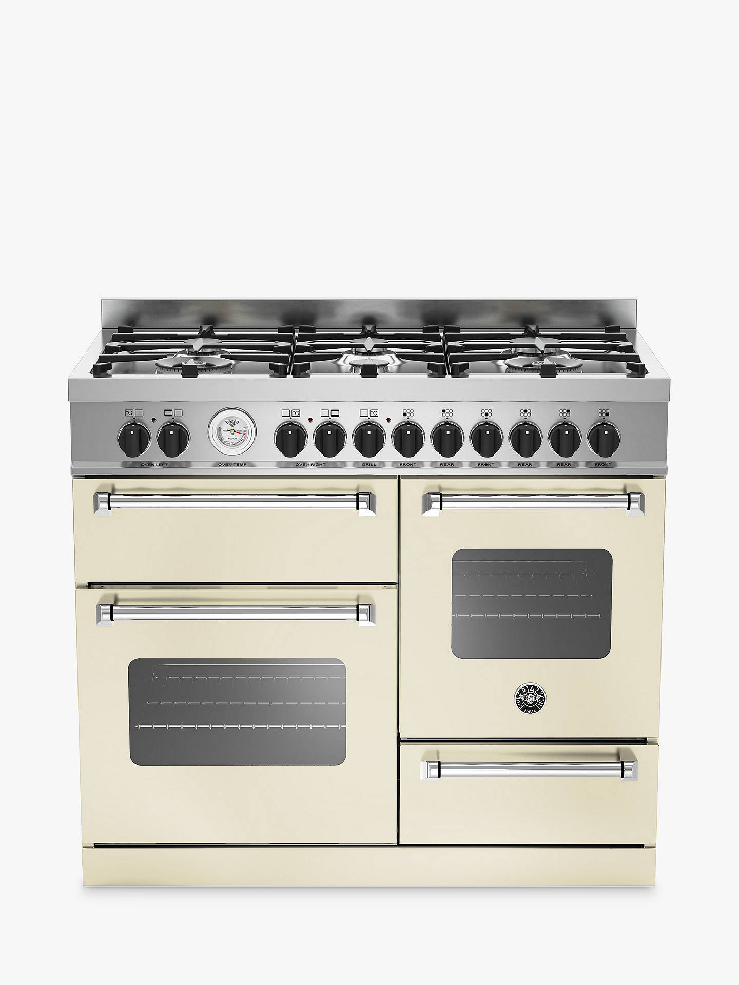 Buy Bertazzoni MAS1006MFETCRE Cooker, Cream Online at johnlewis.com