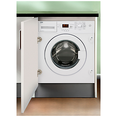 Image of Beko Wmi81341 Built-In 8Kg Load, 1300 Spin Washing Machine - Washing Machine Only