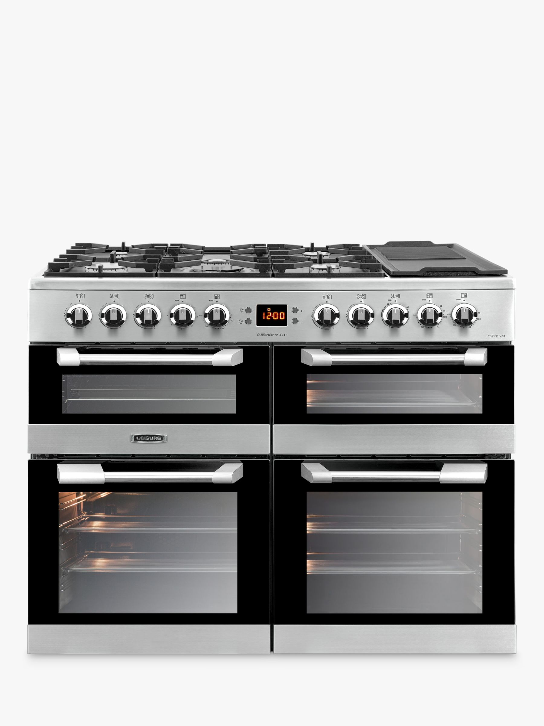 Leisure Leisure CS100F520X Cuisinemaster Freestanding Dual Fuel Range Cooker, Stainless Steel
