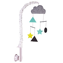 Buy John Lewis Baby Cloud and Stars Mobile, Grey Online at johnlewis.com