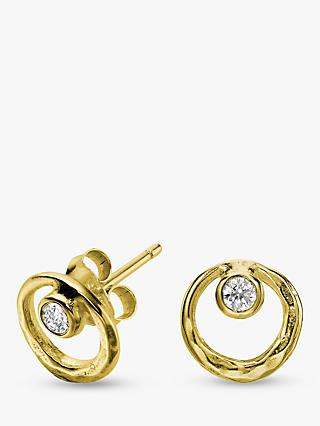 Dower & Hall 18ct Vermeil Circle Stud Earrings