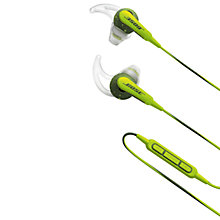Buy Bose® SoundSport™ Sweat & Weather-Resistant In-Ear Headphones With 3-Button In-Line Remote and Carry Case Online at johnlewis.com